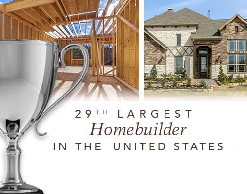 Gehan Homes 29th Largest Homebuilder in US
